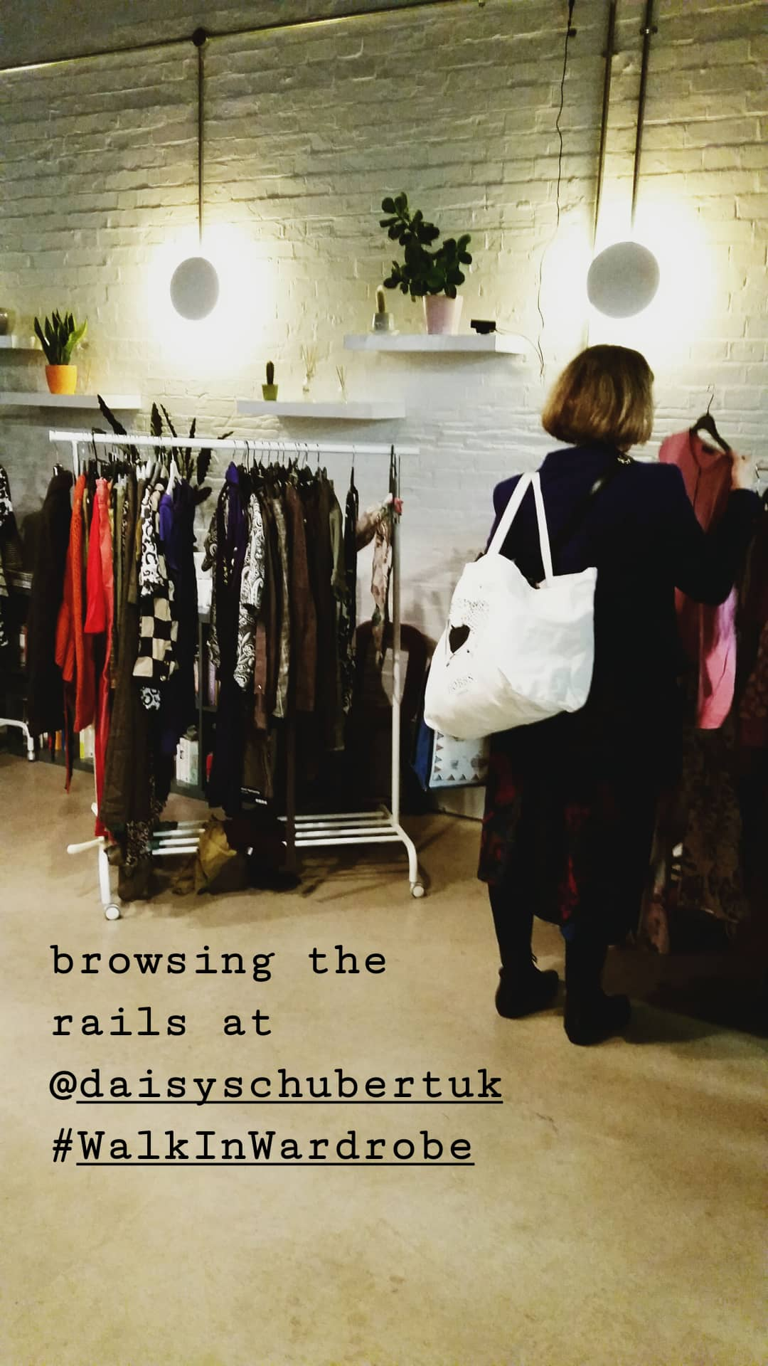 rails of clothes at Walk In Wardrobe event
